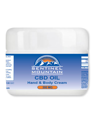 Sentinel Mountain CBD oil hand lotion